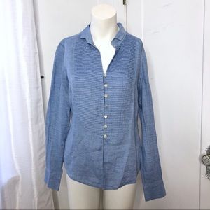 Carlisle Linen Top Chambray 4 100% Linen Button